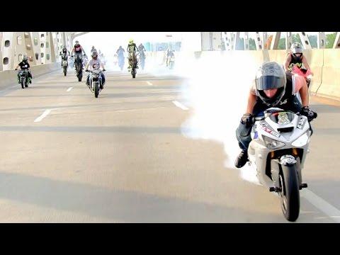 INSANE Street Bike Stunts CRAZY Highway...