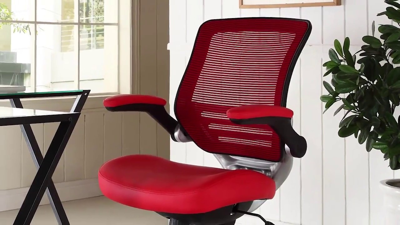 lexmod focus edge desk chair with stand modway office functional comfort youtube