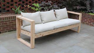 DIY Modern Outdoor Sofa | The Falcon Wing Sofa