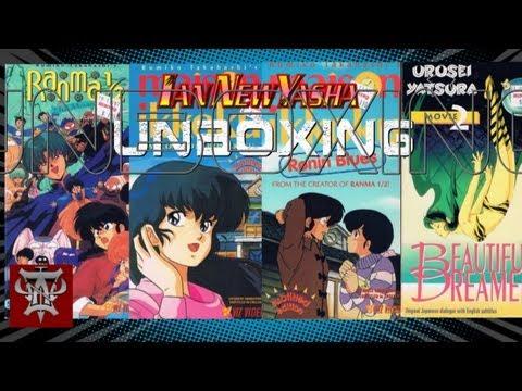 Unboxing various Rumiko Takahashi vintage subtitled VHS - Ian New Yasha