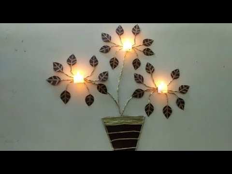 DIY Wall decor with lights and paper ||Home decor idea ||