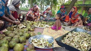 Elephant Apple Pickle | 100 KG Chalta Pickle Cooking / Prepared By Women To Feed Kids & Villagers