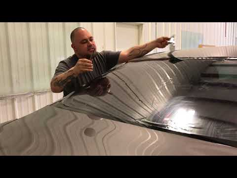 How to hand cut and tint a back glass
