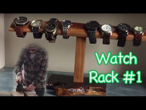 Reclaimed Wood Watch Rack