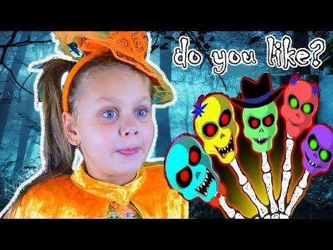 Halloween Songs and Stories for Kids | Kinderlieder Und Lernfarben