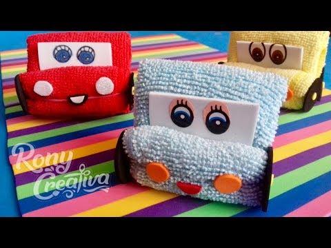 DIY Disney cars party ideas - face cloth Disney Cars