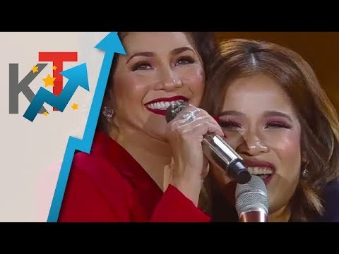 Regine Velasquez and Klarisse De Guzman in an intense vocal battle on ASAP Natin 'To!