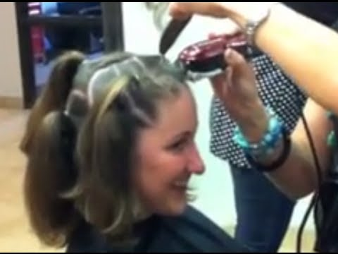 Way girls getting their heads shaved