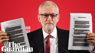 Jeremy Corbyn reveals 451 pages of uncensored pages 'proving NHS up for sale'