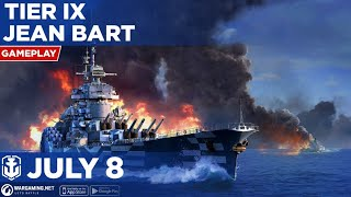 World of Warships Blitz: Tier 9 Jean Bart 92K Damage Gameplay