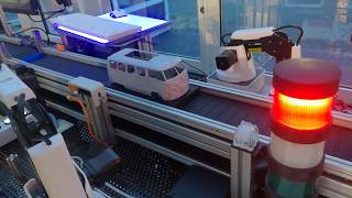 Customer Case | Dobot Magician in Mini Production Bus Assembly Line by Volkswagen & Siemens PLC