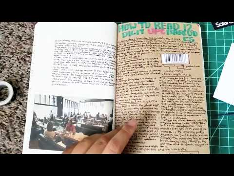 Notebook and Astronomy Journal Flip Through