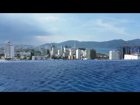 Danang Vietnam skyline timelapse