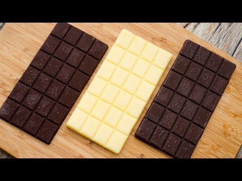 HOMEMADE CHOCOLATE BAR RECIPE l WITH BUTTER l WITHOUT COCONU