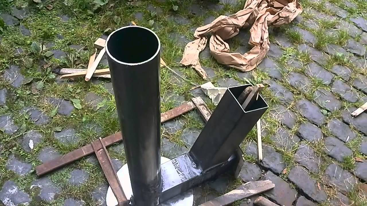 rocket stove burning chamber raketen ofen brennrohr youtube. Black Bedroom Furniture Sets. Home Design Ideas