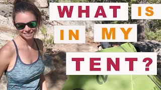 What is in Mỳ Tent | How My Gear is Organized Inside