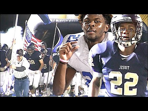 EJ Smith (Son of Emmitt Smith) & Parker Towns leads Jesuit (TX) vs Lakeview Centennial (Garland, TX)