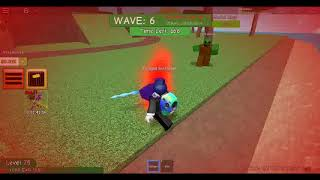 playing zombie attack using a sword ang m16 gun only (roblox)