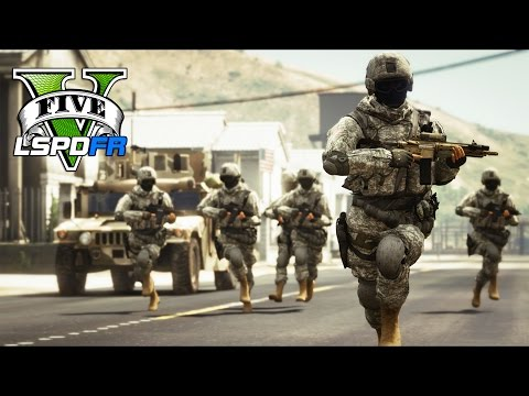 GTA 5 - LSPDFR Ep278 - QRF Military Patrol Madness!!