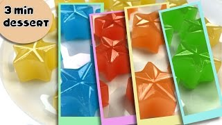 How To Make Gummy Stars/bear/fruity/heart In 3 Minutes Dessert/snack Easy And Fun