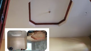 How to install easy way of ceiling with design, using plywood and wood pinoy made.