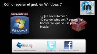Tutorial: Como reparar el grub en Windows 7 / Vista    error: no such partition grub rescues_