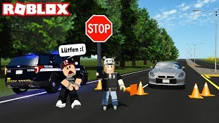 I became a traffic cop and imposed a fine on panda! The road is blocked! - Roblox Greenville with Panda