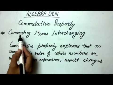Define Commutative Property