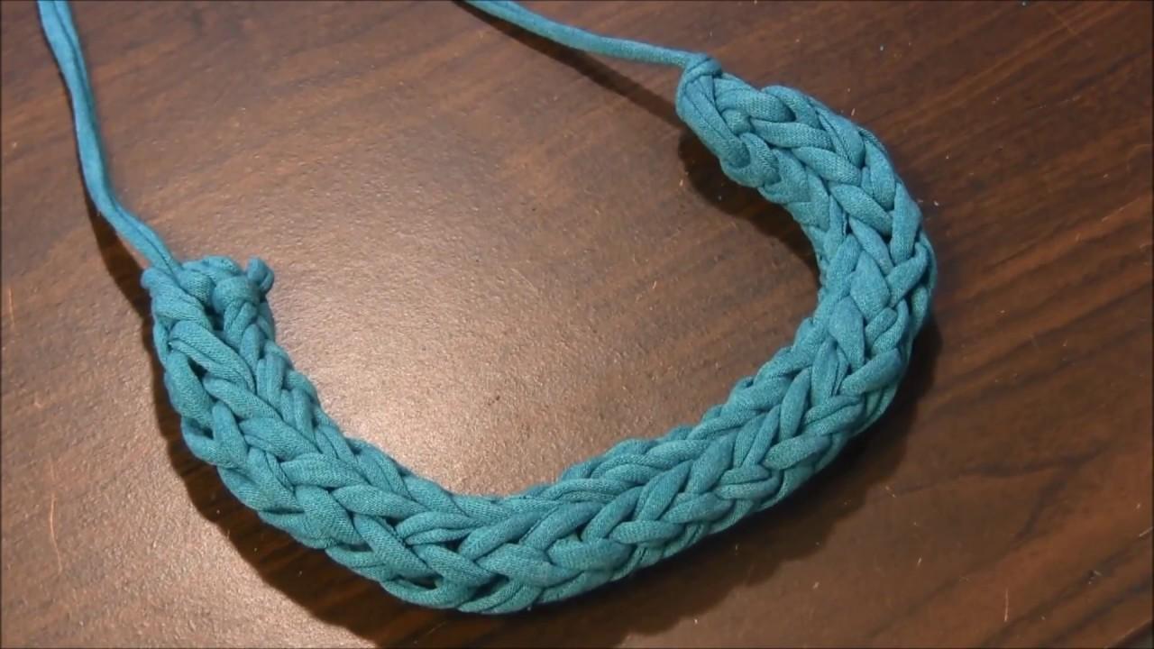 T-shirt Yarn Necklace - YouTube