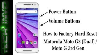How to Format/Hard Reset Moto-G3 ✅ ||Android - Marshmallow 6.0 📲|| [in Hindi] || Tech Invo