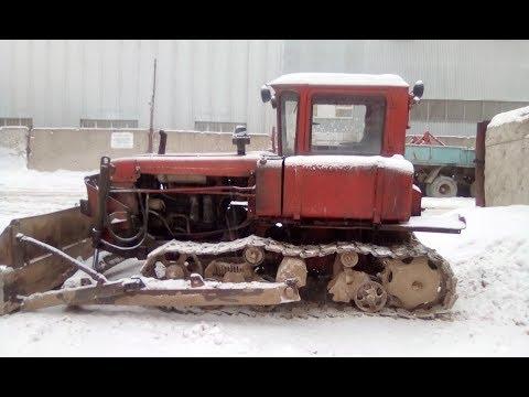 Как управлять трактором ДТ-75, органы управления бульдозера.