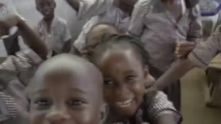 Happy Liberian school kids at Step of Faith school