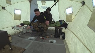 рыбалка на крайнем севере ПОСЛЕДСТВИЯ ОТТЕПЕЛИ И ШТОРМОВОГО ВЕТРА