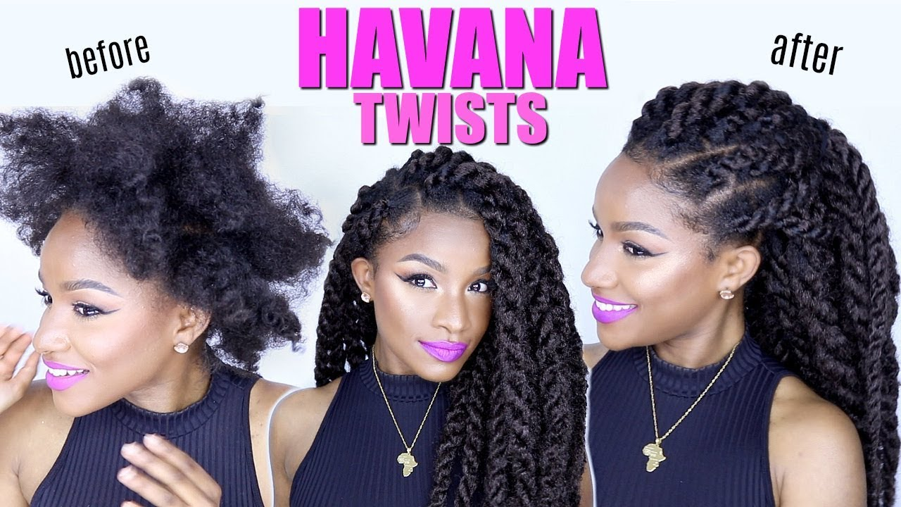 How To Havana Twists On Natural Hair Jumbo Marley Twists