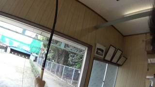弓道:射手視点 Kyudo (Japanese Archery) Arrow Release in Slow Motion 2