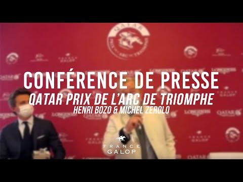 Conférence de presse : Qatar Prix de l'Arc de Triomphe : Henri Bozo et Michel Zerolo