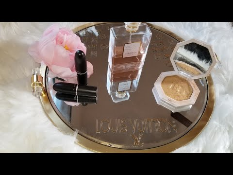 LOUIS VUITTON INSPIRED VANITY TRAY DOLLAR TREE DIY |  GLAM LUXURY HOME DECOR IDEAS 2019 CHEAP HACK