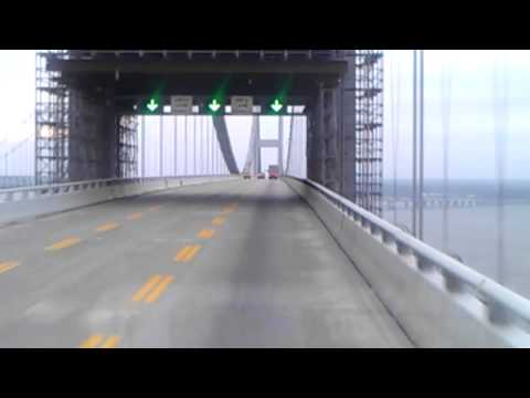 Driving over chesapeake bay bridge in Maryland!!