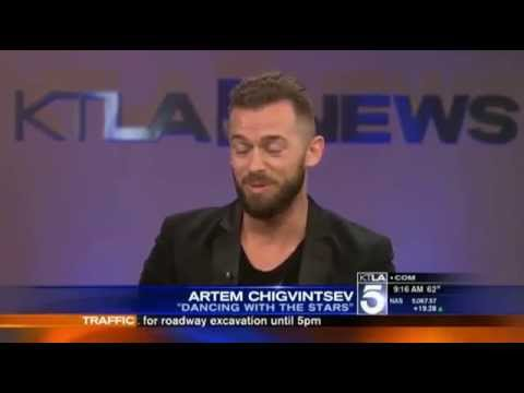 Artem Chigvintsev KTLA5 Interview - YouTube