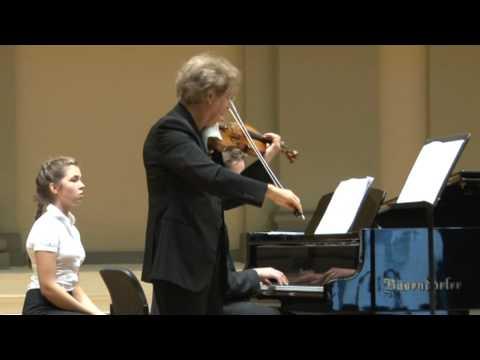 PIERRE AMOYAL & DARIUS MAŽINTAS: C.Franck Sonata in A major for Violin and Piano 1st movement