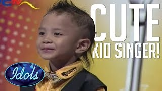 CUTEST KID SINGER AUDITION EVER! I'll be There By Jackson 5 On Indonesian Idol   Idols Global