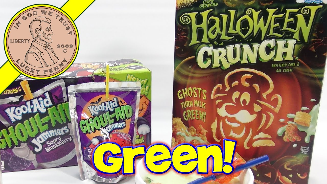 capn crunch halloween ghosts cereal kool aid ghoul aid jammers - Captain Crunch Halloween