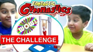 Fantastic GYMNASTIC VAULT CHALLENGE GAME New TWIST And Candy SURPRISE! SMASHBOX TOYZ