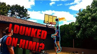 I DUNKED ON HIM!? -  Backyard Basketball - 2v2