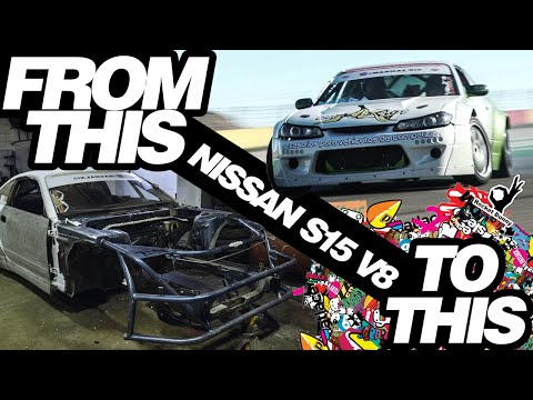BUILDING A NISSAN S15 DRIFT CAR IN 9 MINUTES