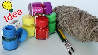WOW !!! Jute Craft Idea || Best out of Waste Idea 2018 || Desk Organization Using Waste Material