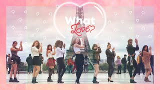 dancing to kpop in public paris twice 트와이스 what is love dance cover by risin crew from france