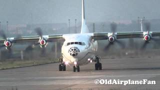 Aero-Charter Airlines Antonov AN-12 Take Off at Leipzig-Halle (HD)