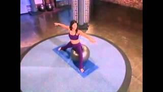 Йога с мячом фитбол упражнения для похудения   ФИТНЕС