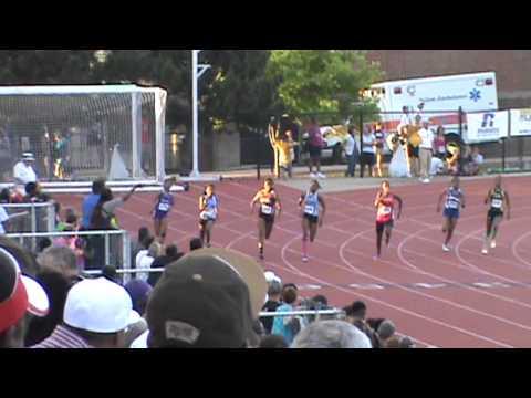 NHHS Track 51813 State 200m dash Kianna Gray, Tamara Jenkins